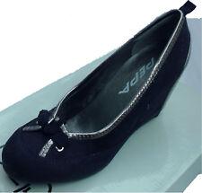 Damas Zapatos de tacón con plataforma Blue Suede