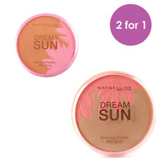 TWO Maybelline Dream Sun Bronzing Powder with Blush Bronzed Tropics +Paradise