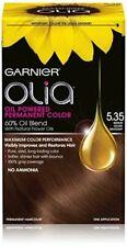 Garnier Olia Permanent Oil Powered Hair Color, # 5.35 Medium Golden Mahogany