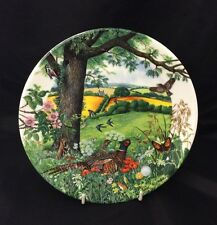 WEDGWOOD CHINA COLLECTORS PLATE 'MEADOWS AND WHEATFIELDS' COLIN NEWMAN 1987