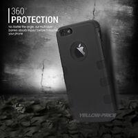 "For Apple iPhone 6 6S Plus 5.5"" Case Triple Armor Military Grade Hard Shell+Film"