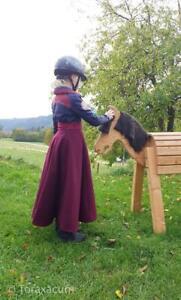 Reitrock für Kinder, Größe 128/134, Mädchen Wickelrock Wolle, Pony Fotoshooting