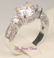 Diamond Princess Anniversary Engagement Ring Antique White Gold Platinum Finish