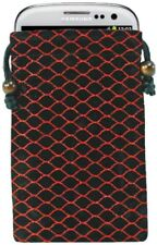 Cellet Eppii Elegant Drawstring Pouch for iPhone 3/3G/4/4S/5 - Black/ Red Scales