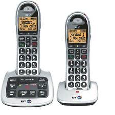 BT BT4000 Twin Big Button DECT Cordless Phone Silver/Black 069265 [BT61584]