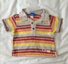 Boys Beige Striped Polo Shirt by Adams Kids - Size: 9-12 months