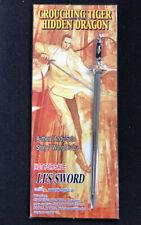 CROUCHING TIGER HIDDEN DRAGON Comics promo Li's Sword - New In Package