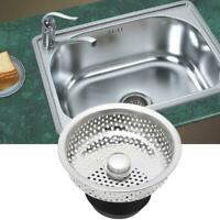 1X Kitchen Stainless Steel Mesh Sink Strainer Disposer Plug Drain Stopper Filter