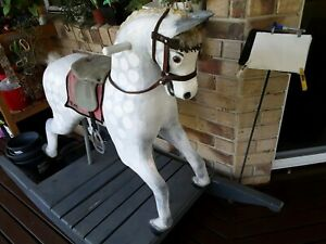 Rocking horse beautifully finished even with teeth and tongue