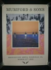 MUMFORD & SONS VIP 2019 NASHVILLE Show Poster Tour Print LITHOGRAPH Bridgestone