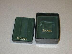 BULOVA Vintage Watch Box ONLY Green (D932)