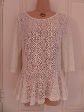 """Lovely cream/white lace top from Next size 10, sheer, little """"skirt"""" on it"""