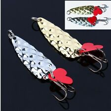 2pcs Fishing Tackle Lures Metal Spoon Lure Baits Freshwater Bass Bait Sharp Hook