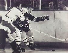 GILBERT PERREAULT & BOBBY ORR 8X10 PHOTO BUFFALO SABRES BOSTON BRUINS NHL HOCKEY