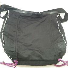 Kipling Bag Fergie Black and White Crossbody Shoulder Bag Adjustable pink cords