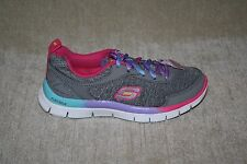 GIRLS SKECHERS MULTI-COLORED LIGHTWEIGHT ATHLETIC SHOES US SIZE 12 (182)