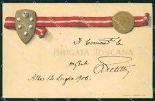 Militari 77º 78º Reggimento Fanteria Brigata Toscana cartolina XF5440