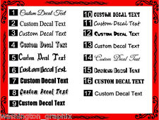 CUSTOM TEXT Personalised Name Font Lettering Funny Car/Van/Window Decal Sticker
