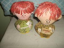 "Two Vintage 6"" Western Union Dolly Grams   very cute"