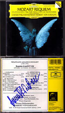 Anna Tomowa-Sintow signée MOZART Requiem Karajan Vicent Cole Burchuladze DG CD