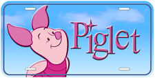 Piglet Aluminum Novelty Tag Car License Plate