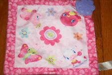 Bright Starts Pink Teether Lovey Security Blanket Bird Cow Pig Butterfly Girls