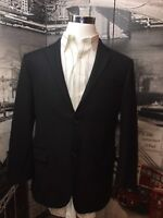 Hickey Freeman 42 R Barrett Suit Jacket Wool Black 2 Button Fully Lined