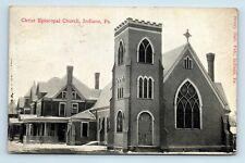 Indiana, PA - RARE c1912 CHRIST EPISCOPAL CHURCH POSTCARD - RPO - S3