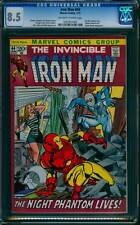 Iron Man # 44  The Night Phantom Walks  !  CGC 8.5 scarce book !