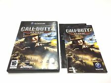 CALL OF DUTY 2 BIG RED ONE / VERSION FR / PAL GAME CUBE NINTENDO COMPLET
