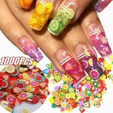 1000PCS/Pack 3D Nail Stickers Mini Fimo Slices Polymer Clay Crafts Fruit Design