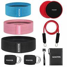 Kootek 10 Pieces Resistance Loop Bands Set – Workout for Leg and Pink
