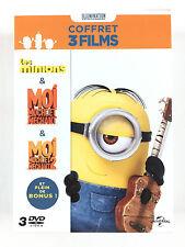 Coffret 3 DVD Les Minions + Moi, Moche Et Méchant 1 et 2 / L'INTEGRALE