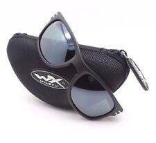 Wiley X ACHUD05 Hudson Matte Black Polarized Green Platinum Sunglasses Authentic