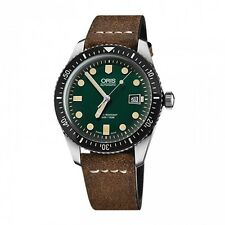 New Oris Divers Sixty-Five Leather Strap 42mm Mens Watch 73377204057LS