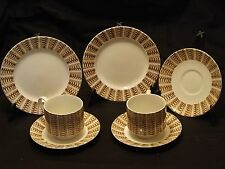 Island Art Ware J.B.S England 'Java Pattern' 2 Side Plates 2 Cups & 3 Saucers