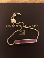 Rose Gold Monica Vinader Purple Quartz Baha Bracelet Ladies