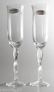 Time Tree Handmade Turkish Glass Flute Champagne 200mL (set of 2)