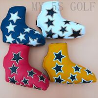 New Golf Star Blade Putter Cover Magnetic Headcover for Odyssey Scotty Putters