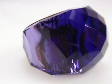 NIB Swarovski NIRVANA Purple Velvet RING 52 6 Small S Silver Wide 1166785