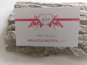 Brautjungfern Geschenk - Emotionale Karte