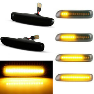 2X Sequential LED Side Marker Blinker Turn Signal Light For BMW BMW 3 Series E46