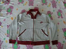 Vintage NIKE Heather Gray Rayon Tri Blend Sweatshirt Zip Up Track Jacket Adult M