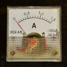 Mini 0 - 1.5 A Dc Amperímetro Analógico Transparente Panel Amp medidor analógico Nuevo