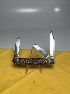 Vintage KUTMASTER Pocket Knife Made UTICA NY USA Medium Stockman Folding 3 Blade