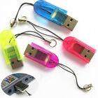 2X USB2.0 Micro SD SDHC TF Flash Memory Card Reader Mini Adapter for Laptop Cool
