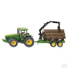 Siku JOHN DEERE 8430 Tractor con Remolque Forestal 1:50 Juguete Regalo Navidad