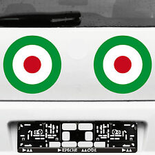 2 Aufkleber Tattoo 23cm Target Mod It Scooter decal Deko Folie Auto Roller Vespa