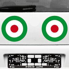 2 pegatinas tatuaje 23cm target mod it scooter decal decorativas lámina auto Roller Vespa