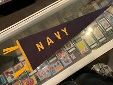 1940'S NAVY MIDSHIPMEN PENNANT REALLY NICE RARE SEWN ON LETTERS SOFT WOOL
